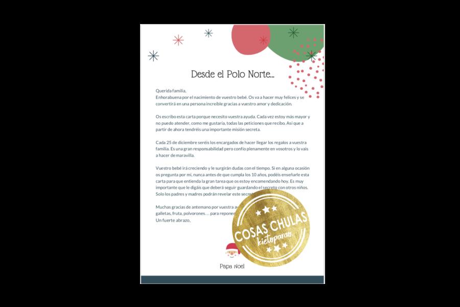 Carta de Papa Noel a padres y madres.