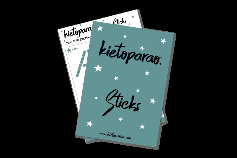 Vocales para hacer con palitos-sticks Kietoparao