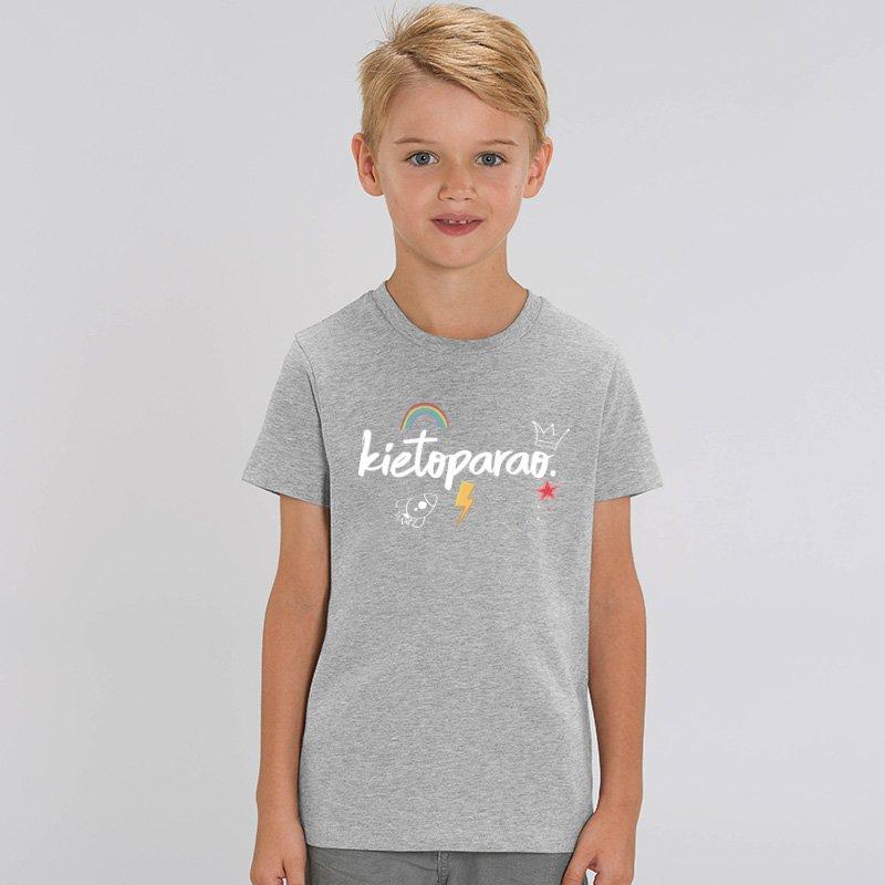 Camiseta Kietoparao niño y niña gris