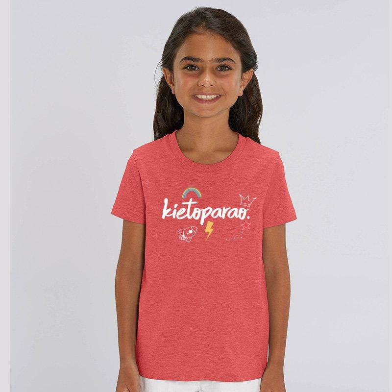 Camiseta Kietoparao niño y niña rojo