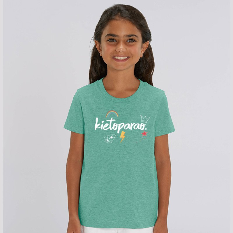 Camiseta Kietoparao niño y niña turquesa